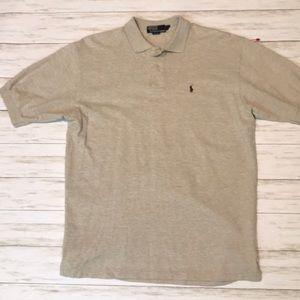 🔥 Polo by Ralph Lauren men's L cream polo shirt